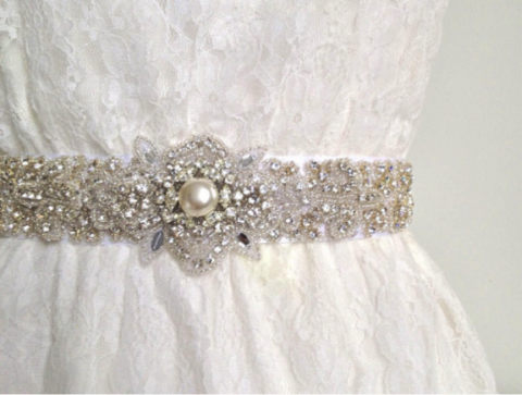 Belt Wedding Dress 79 Amazing Gorgeous crystal and pearl
