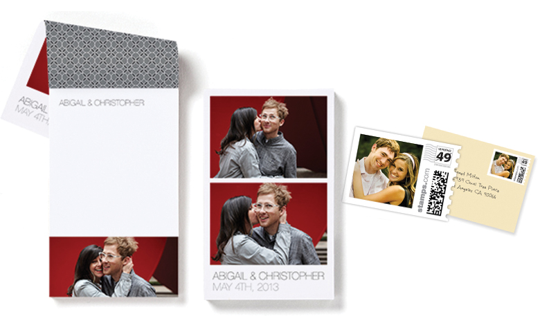 Photo Notepad and Stamps