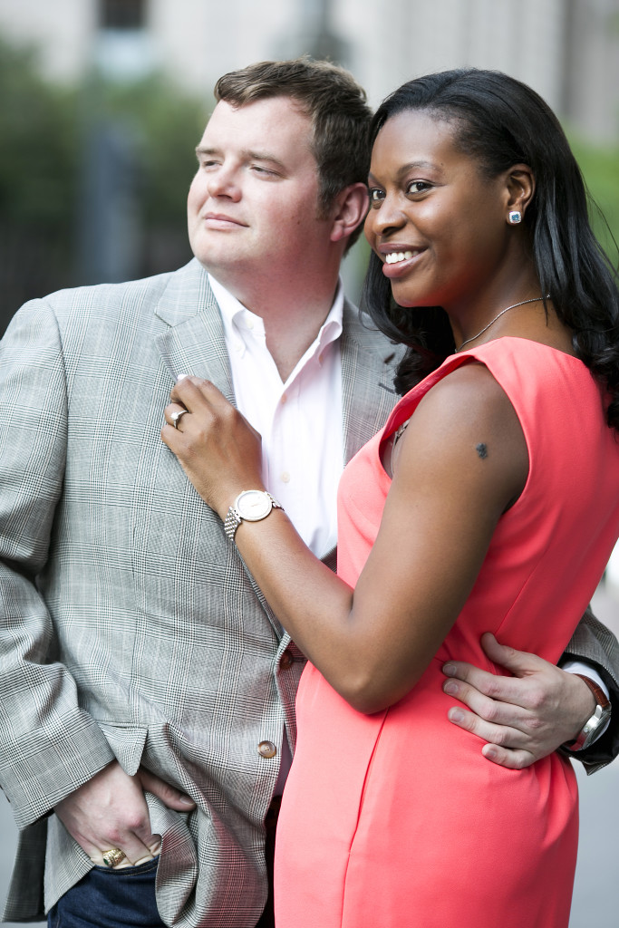 Formal outdoor engagement photos - Photo by Jenny & Eddie