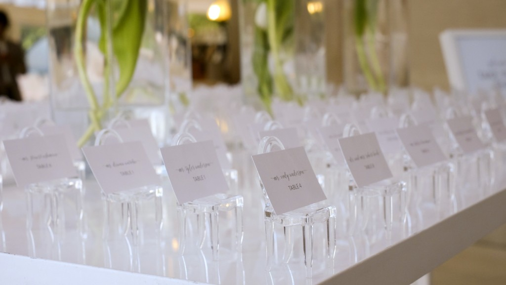 Ghost chair escort cards - Photo by Jenny Martell Photogarphy