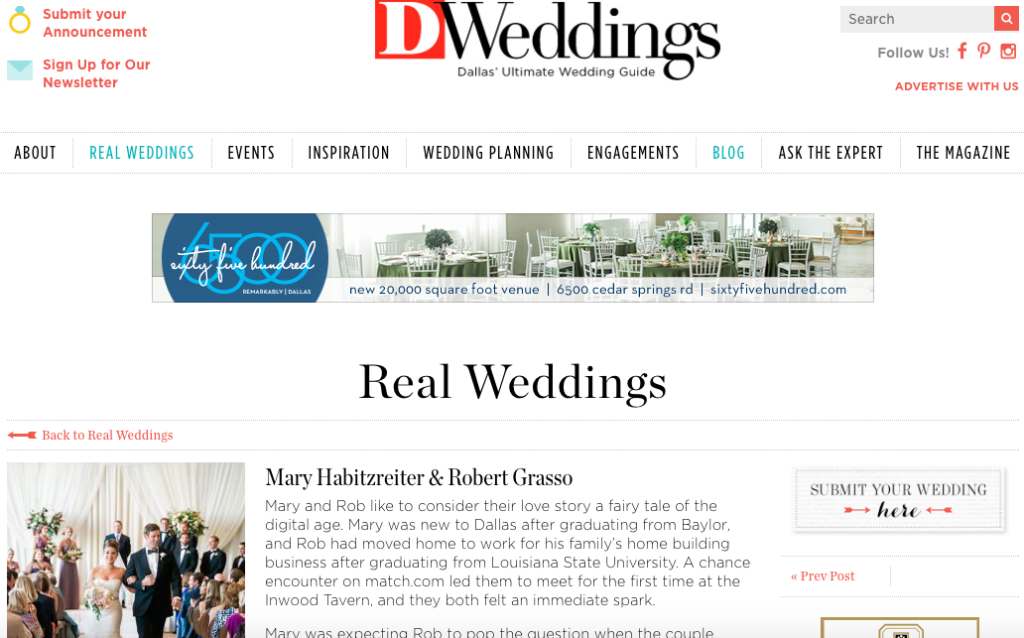 Habitzreiter-Grasso Wedding on DWeddings Hitched Events Fall 2015 wedding at Union Station in Dallas, TX