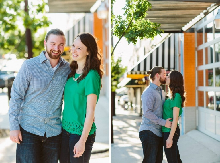 Dallas outdoor engagement photos - Photos by Honey and Salt Photography