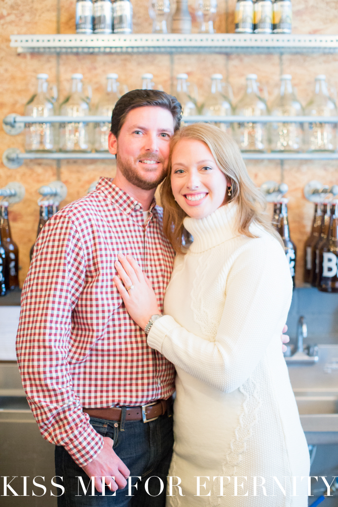 Bishop Cider Company engagement photo shoot in Dallas, Texas - Photos by Kiss Me For Eternity
