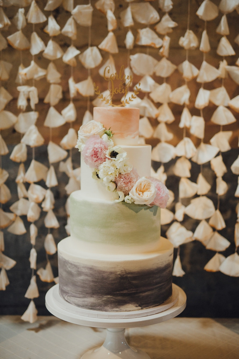 Wedding Cakes Dallas 49 Best Watercolor inspired four tiered