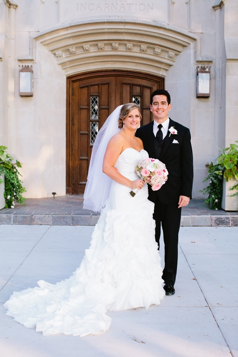 Wedding portrait outside church - Photo by Anna Routh Photography