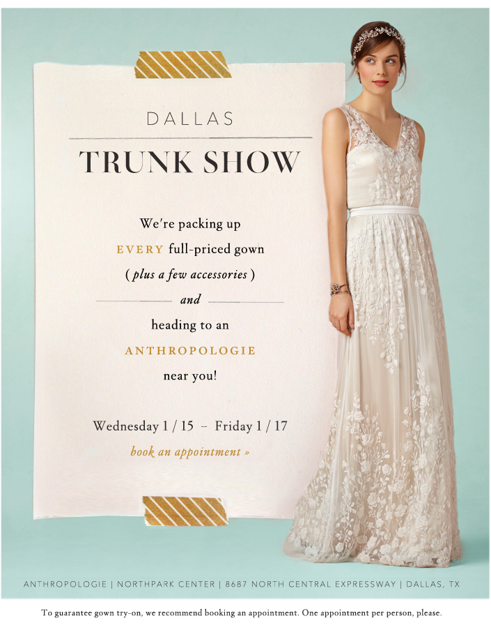 BHLDN Trunk Show At Dallas Northpark Center