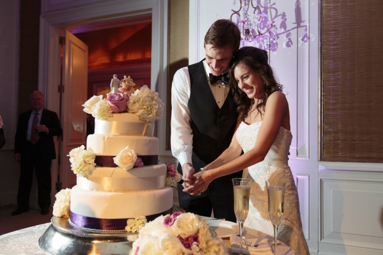 Victoria and Michael Cake Cutting