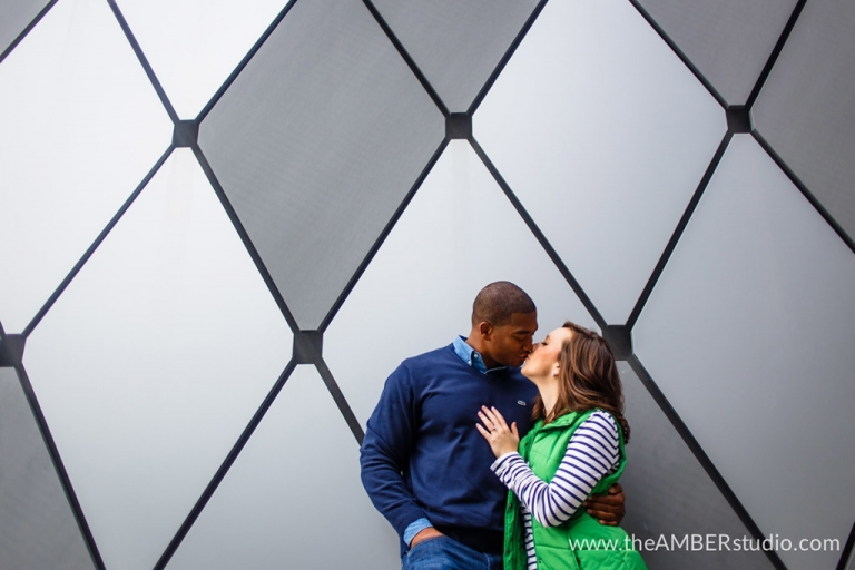 Dallas Arts District engagement photos - Photo by The Amber Studio