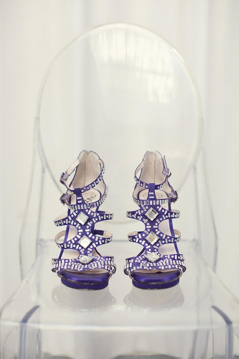 Purple wedding shoes - Photo by Sarah Kate Photography