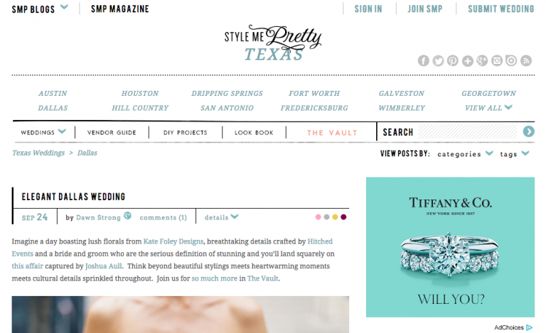 Megan and Eugene's The Joule Hotel wedding on Style Me Pretty