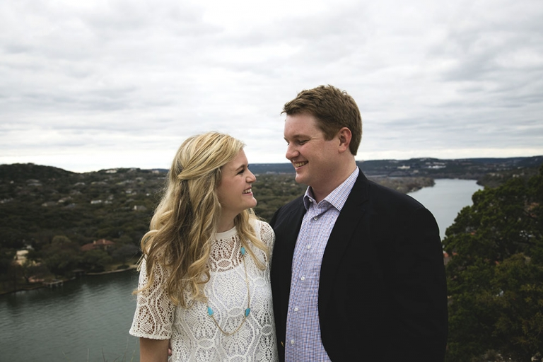 Lakeside engagement photo - Photo by Nathan Lewis Photography