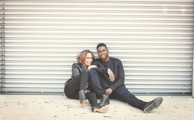 Engagement pictures with black outfits - Photo by Relive Photography by Laura Parent