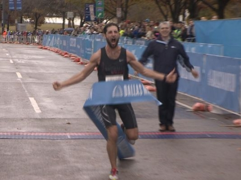 Dallas Marathon Winner Logan Sherman 3