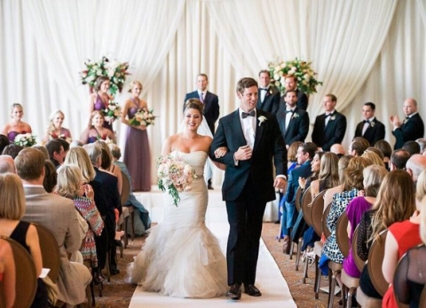 Romantic Union Station ceremony - Photo by Shannon Skloss Photography