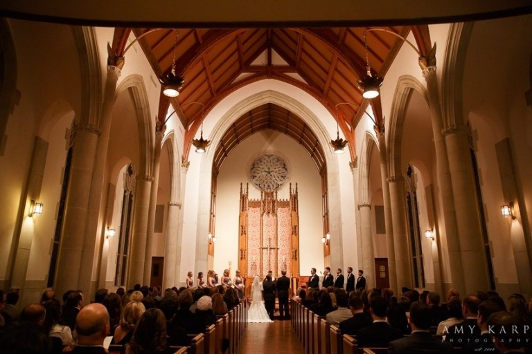 Methodist church ceremony - Photo by Amy Karp Photography