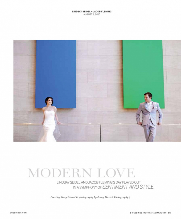 Seidel Fleming Wedding DWeddings Feature modern wedding at Meyerson Symphony Center
