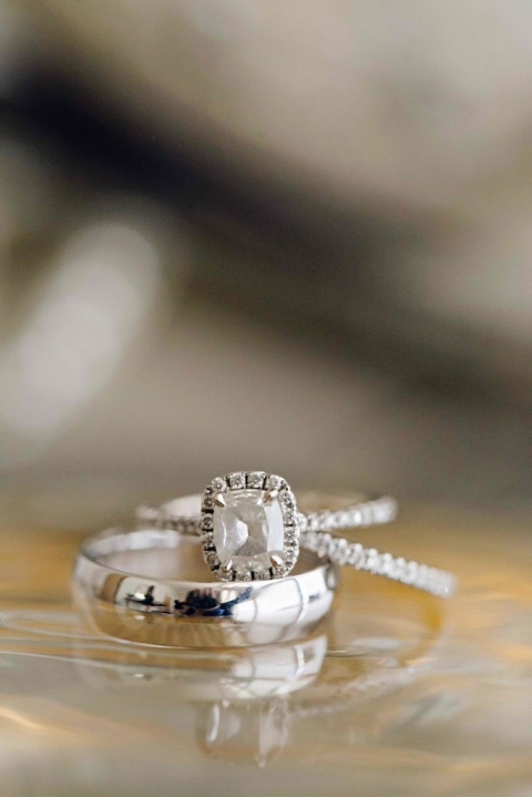 Close up wedding ring detail shot - Photo by Arden Prucha Photography