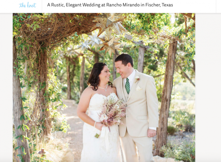 Hitched Events rustic and elegant Texas hill country wedding featured on TheKnot.com Real Weddings - Photo by Perez Photography
