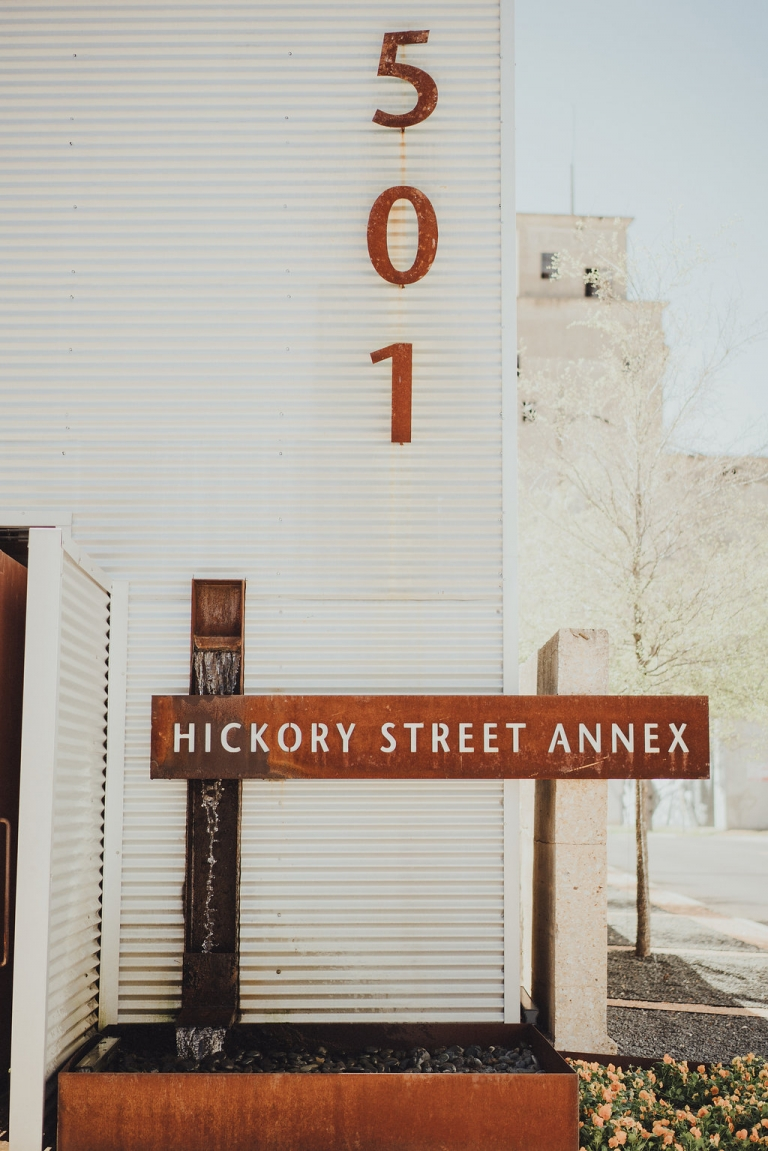 Spring wedding ceremony and reception at Hickory Street Annex in Dallas, Texas - Photos by Grant Daniels Photography
