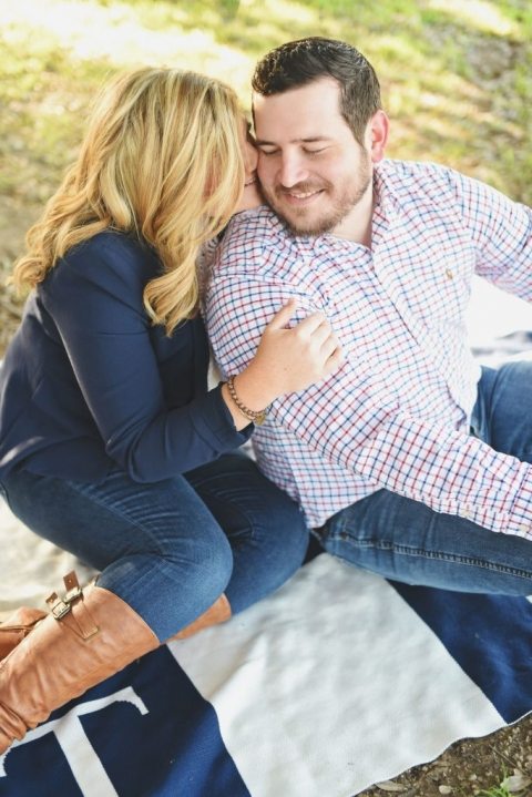 Outdoor engagement photos in Dallas - Photos by Adrian Faubel photography