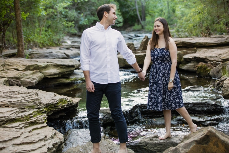 Outdoor engagement photos in Dallas, Texas - Photos by Jeremy Gilliam